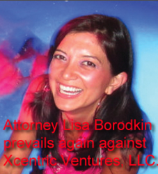 Attorney Lisa Borodkin prevails again against Xcentric Ventures LLC